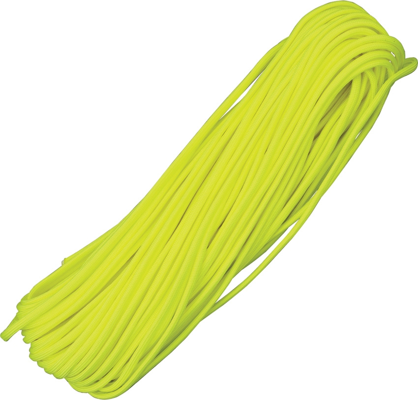 Paracord 550 Neon Yelow 100ft (30,5m)
