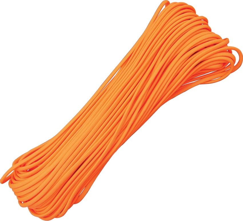 Paracord 550 Neon Orange 100ft (30,5m)