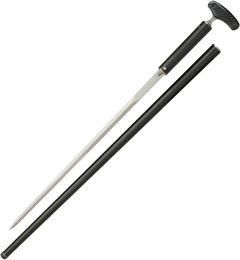 DRAGON KING Carbon Fiber Cane Sword w/Push Dagger