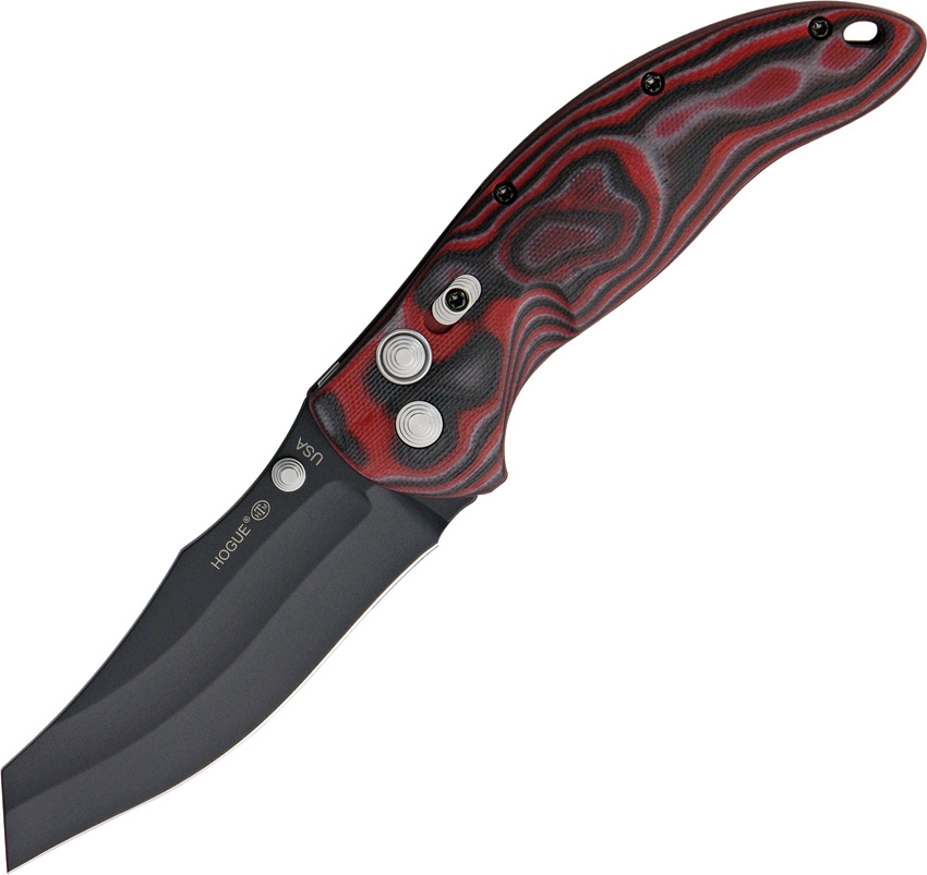"HOGUE EX-04 4"" Wahrncliffe G-10 Red Lava"