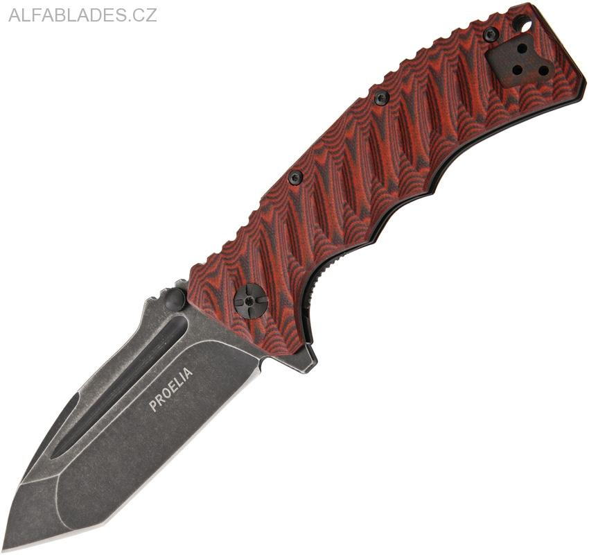 DEFCON Proelia TX-010 Black Stonewashed,Red/Black G-10