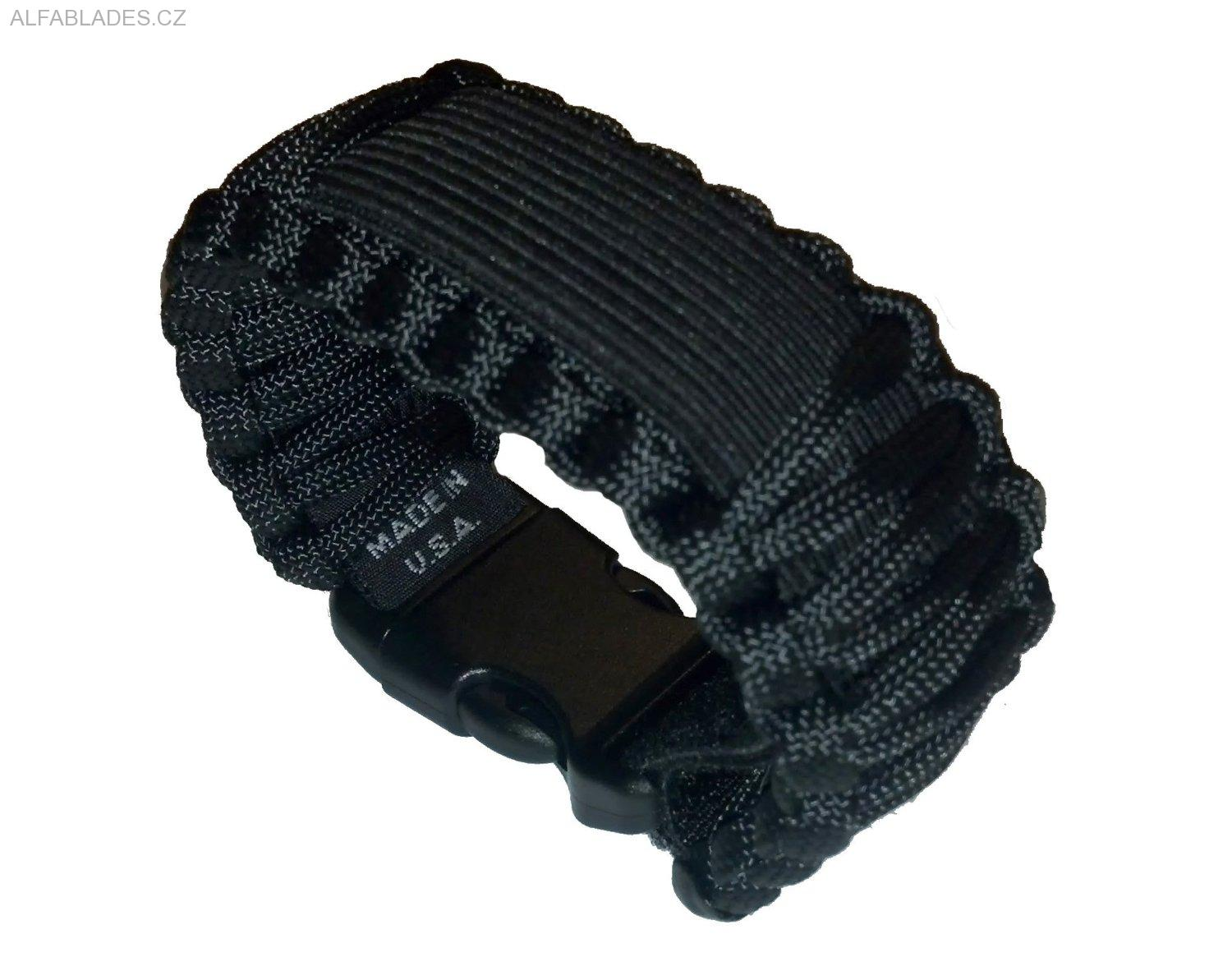 SURVCO TACTICAL Paracord Watch Band Black